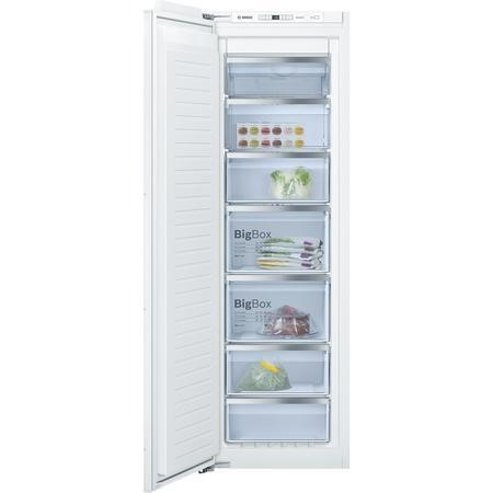 Bosch Serie 6 GIN81AE30G 56cm Wide Frost Free Integrated Upright Freezer - White Finish