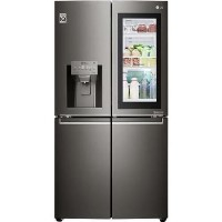 LG GMX936SBHV InstaView Door-in-door Multi-door Smart American Fridge Freezer - Glossy Black Best Price, Cheapest Prices