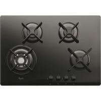 Whirlpool GOR7424NB 68cm Four Burner Gas-on-Glass Hob Black