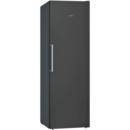Siemens GS36NVX3PG 186x60cm 242L Frost Free Freestanding Upright Freezer - Anti-fingerprint Black Steel