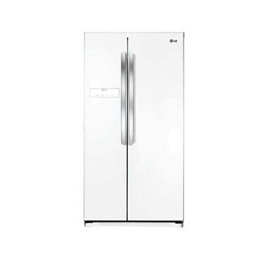 LG GSB325SWQV Basic American Fridge Freezer - Super White