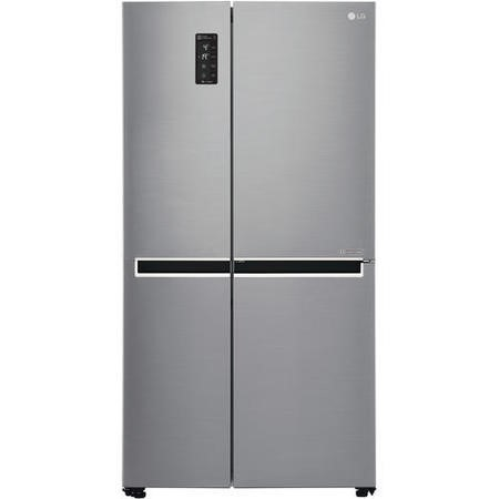 GRADE A3  - LG GSB760PZXV Side-by-side American Fridge Freezer Shiny Steel