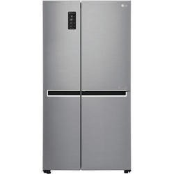 GRADE A3 - Heavy cosmetic damage - LG GSB760PZXV Side-by-side American Fridge Freezer Shiny Steel