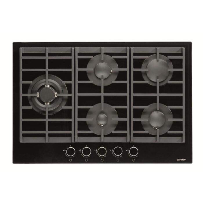 gorenje gtw761ub 75cm gas hob black appliances direct. Black Bedroom Furniture Sets. Home Design Ideas
