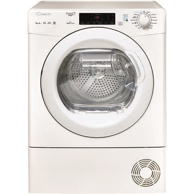 Candy GVSH9A2TE 9kg Freestanding Heat Pump Condenser Tumble Dryer - White