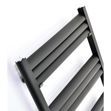 Accuro Korle Champagne Aluminium Towel Warmer in Anthracite - 800mm x 500mm - 1166 BTUs