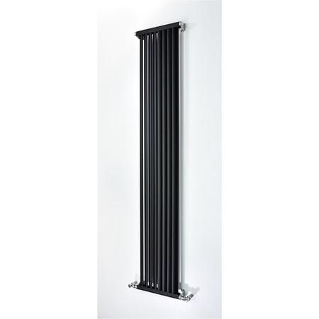 Accuro Korle Zephyra Aluminium Radiator in Anthracite - 1800mm x 330mm - 2800 BTUs
