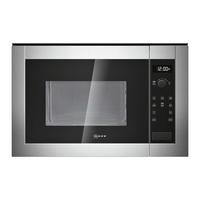 Neff H12WE60N0G 900W 25L Built-in Microwave Oven Stainless Steel