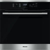 Miele H2561BP EasyControl 7 Function Electric Built-in Single Oven With Pyrolytic Cleaning CleanSteel