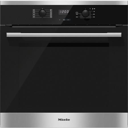 GRADE A1 - Miele H2561B EasyControl 7 Function Electric Built-in Single Oven CleanSteel