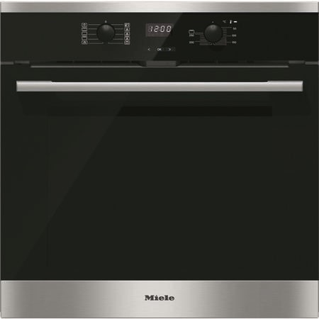 Miele H2566BPCLST H2566BP EasyControl 7 Function CleanSteel Electric Built-in Single Oven With Pyrolytic Cleaning And FlexiClip Rails