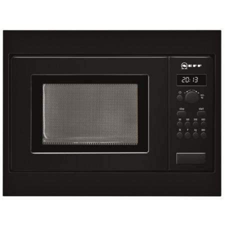 Neff H53W50S3GB 800W 17L Built-in Standard Microwave  For A 50cm Wide Cabinet Black