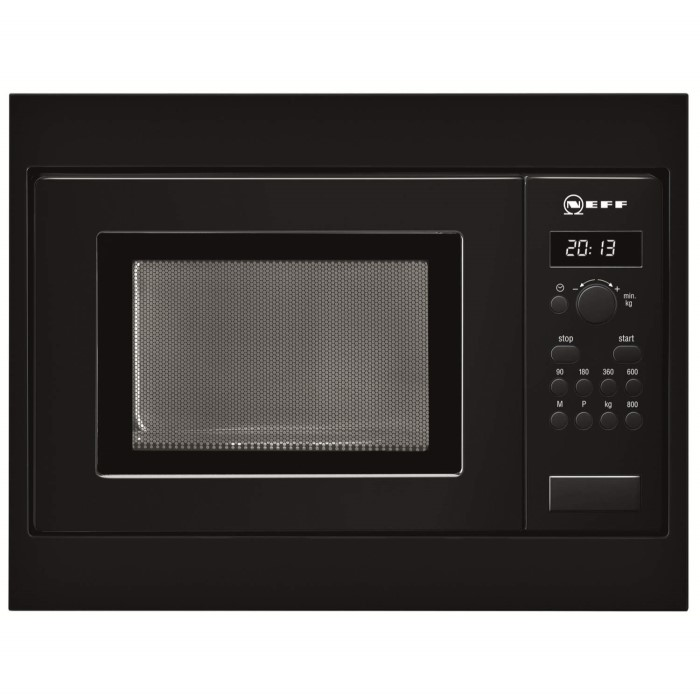 Neff h53w50s3gb 800w 17l built in standard microwave for a for Kitchen cabinets 50cm wide