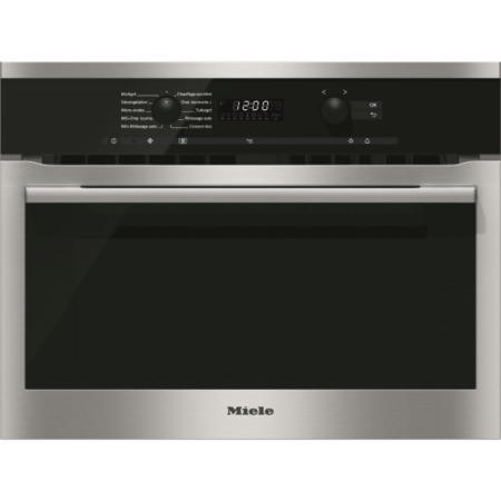 Miele H6100BMclst EasyControl 1000W Multifunction Built-in Combi Microwave Oven - CleanSteel
