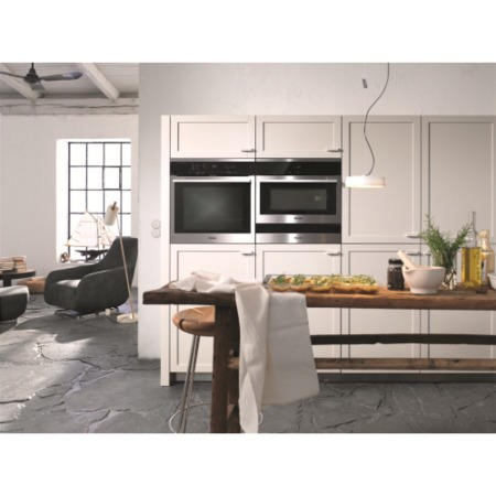 Miele ContourLine H6160BPclst A+ Rated Built In Electric Single Oven With Pyrolytic Cleaning - Clean Steel