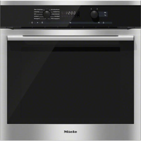 Miele H6160Bclst EasyControl 8 Function Electric Built-in Single Oven With MoisturePlus CleanSteel