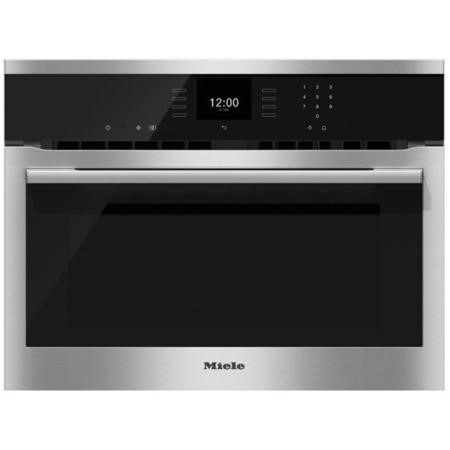Miele H6500BMclst SensorTronic 1000W Multifunction Built-in Combi Microwave Oven With Food Probe - CleanSteel
