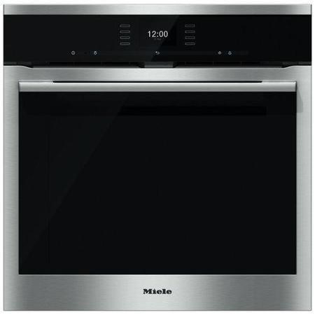 Miele ContourLine H6560BPclst A+ Rated Electric Built In Single Oven With Moisture Plus And Pyrolytic Cleaning - Clean Steel