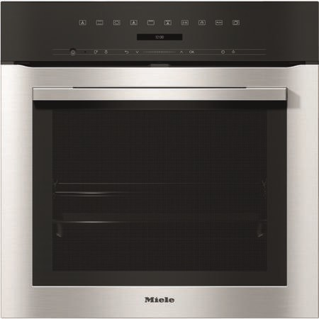 Miele ContourLine Touch Control Single Oven with Pyrolytic Cleaning - Clean Steel