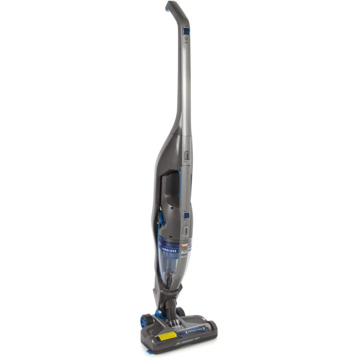 Vax H85AC21BB Air Cordless Switch Extra Upright Vacuum Cleaner Grey And Turqoise