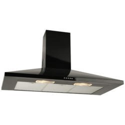 Leisure H91PK 90cm Chimney Cooker Hood Black