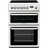 Hotpoint HAE60PS 60cm Double Oven Electric Cooker - Polar White