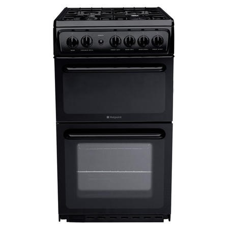 Hotpoint HAG51K 50cm Twin Cavity Gas Cooker - Black