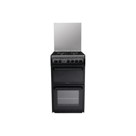 Hotpoint HAGL51K 50cm Double Cavity Gas Cooker - Black