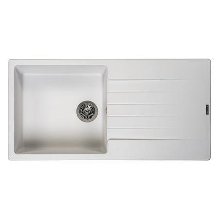 Reginox Harlem 10 Pw Harlem 1 Pure White Granite Composite Sink