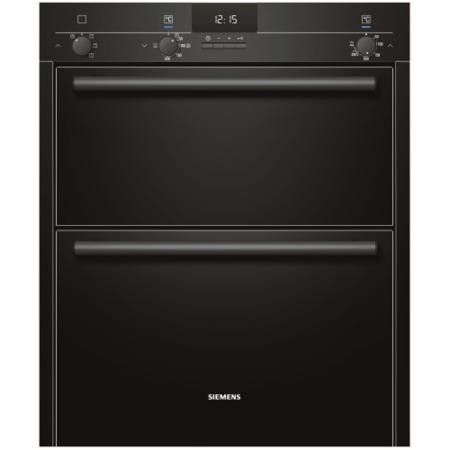SIEMENS HB13NB621B iQ100 Electric Built Under Double Oven  in Black