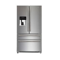 GRADE A2 - Light cosmetic damage - Haier HB22FWRSSAA 522L Frost Free American-style 4-door Fridge Freezer With Ice Maker And Water Dispenser Stainless Steel