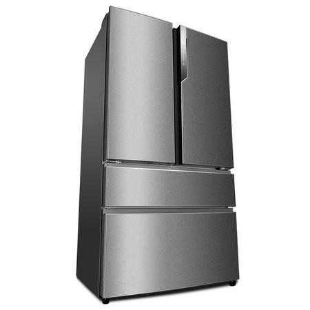 Haier HB25FSSAAA 4-Door Frost Free A++ American Fridge Freezer Stainless Steel
