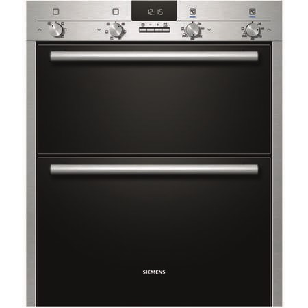 SIEMENS HB43NB520B iQ100 Electric Built Under Double Oven  in Stainless steel
