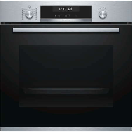 Bosch HBA5780S0B Serie 6 Multifunction Electric Built-in Single Oven With Pyrolytic Cleaning - Stainless Steel