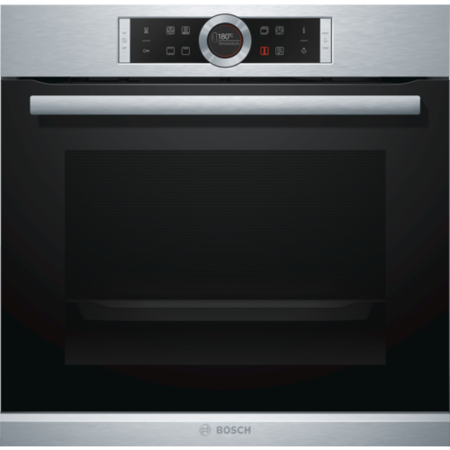 GRADE A3 - Bosch HBG634BS1B Serie 8 Multifunction Electric Built-in Single Oven in Stainless Steel