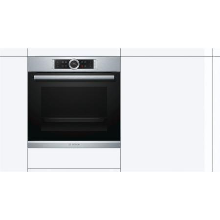 Bosch HBG634BS1B Huge 71L Multifunction Single Oven Stainless Steel
