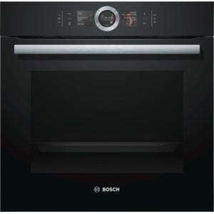 Bosch HBG656RB1B Large Capacity Multifunction Electric Built-in Single Oven Black With EcoClean Liners