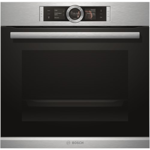 Bosch HBG656RS1B Large Capacity Multifunction Electric Built-in Single Oven Stainless Steel With EcoClean Liners
