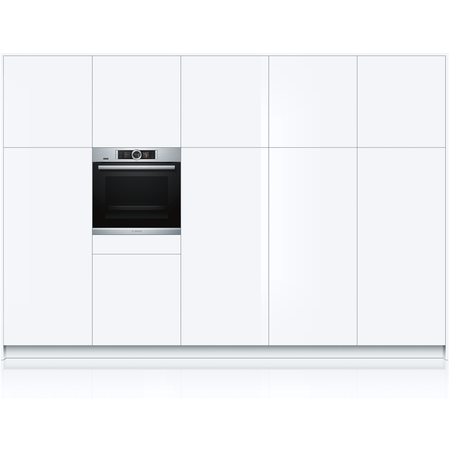Bosch HBG6764S6B Serie 8 Multifunction Electric Single Oven With Pyrolytic Cleaning - Stainless Steel