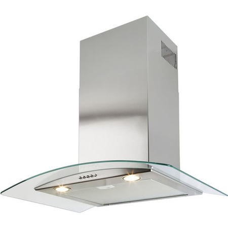 Beko HBG70X Curved Glass Canopy 70cm Chimney Cooker Hood Stainless Steel