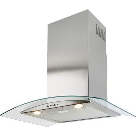 beko hbg70x curved glass canopy 70cm chimney cooker hood. Black Bedroom Furniture Sets. Home Design Ideas