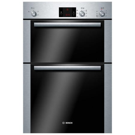 GRADE A1 - Bosch HBM13B251B Classixx Electric Built-in Double Fan Oven Brushed Steel