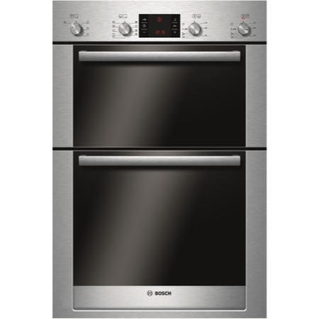 Bosch HBM53R550B Exxcel Electric Built-in Double Multifunction Oven - Brushed Steel