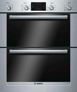 HBN53R550B Bosch HBN53R550B Exxcel Electric Built-under Double Multifunction Oven - Brushed Steel