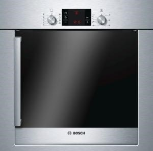 Bosch HBR33B550B Exxcel Built-in Single Multi-function Oven in Brushed Steel