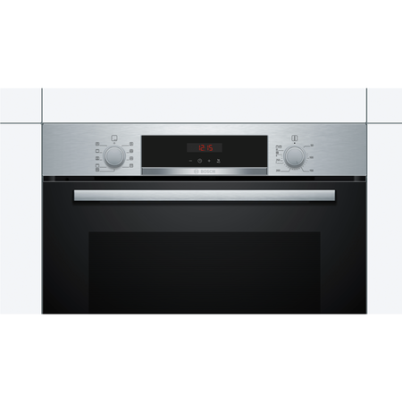 Bosch HBS573BS0B Serie 4 Multifunction Electric Built-in Single Oven With Pyrolytic Cleaning - Stainless Steel