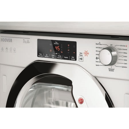 Hoover HBTDWH7A1TCE-80 7kg Integrated Heat Pump Tumble Dryer - White