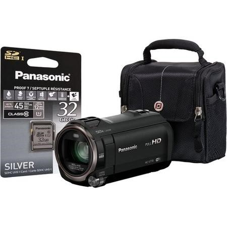 Panasonic HC-V770 Black Camcorder Kit inc 32GB SD Card & Case