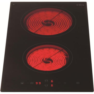 HC3620FR CDA HC3620FR Domino Two Zone Frameless Ceramic Hob Black