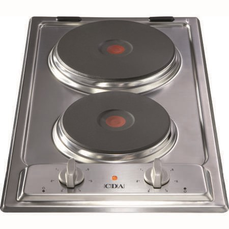 CDA HCE340SS 29cm Domino Two Zone Sealed Plate Hob Stainless Steel